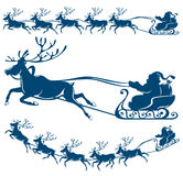Reindeer and Santa Claus. Stock Images
