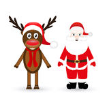 Reindeer and Santa Claus Stock Photography
