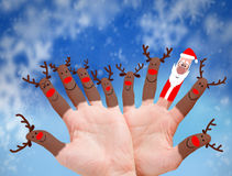Reindeer Santa Claus Stock Images
