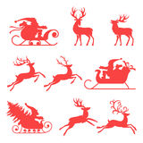 Reindeer and Santa Claus.  Royalty Free Stock Photography