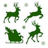 Reindeer and Santa Stock Images