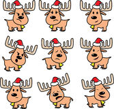 Reindeer of Santa vector Stock Photo