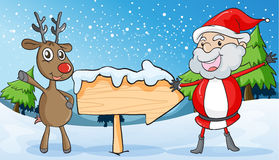 Reindeer and santaclause. Detailed illustration of a reindeer and santaclause Royalty Free Stock Photos