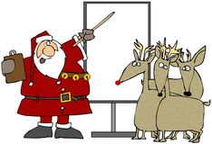 Reindeer School Stock Image