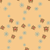 Reindeer seamless pattern. Royalty Free Stock Photos