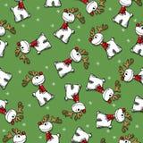 Reindeer seamless pattern Stock Photo