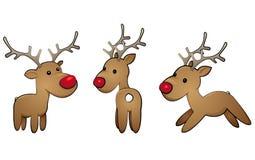 Reindeer-set Royalty Free Stock Photography