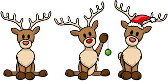 Reindeer-set. Set of cute cartoon reindeer Royalty Free Stock Image