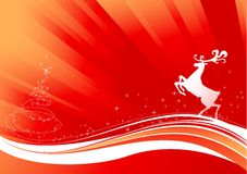 Reindeer and Shine Christmas Tree Stock Photos