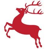 Reindeer silhouette Stock Image