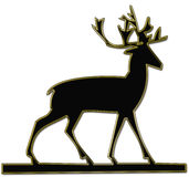 Reindeer silhouette Stock Images