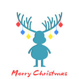 Reindeer silhouette Christmas design Royalty Free Stock Photography