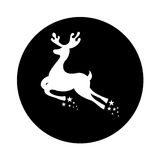 Reindeer silhouette isolated icon Stock Images
