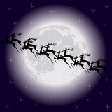 Reindeer silhouette Royalty Free Stock Images