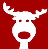 Reindeer Silhouette Red Royalty Free Stock Photography