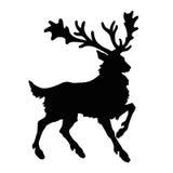 Reindeer silhouette. On white Stock Photo