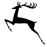 Reindeer silhouette Royalty Free Stock Image