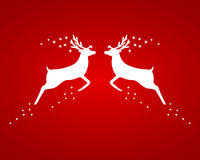 Reindeer silhouettes Stock Images