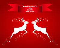 Reindeer silhouettes Stock Photography