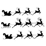 Reindeer. Sleds with tree black reindeer Stock Photography