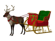 Reindeer  sleigh Royalty Free Stock Images