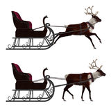 Reindeer with sleigh Stock Images