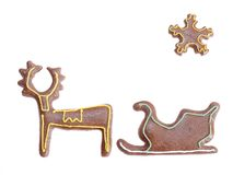 Reindeer and sleigh Stock Photography