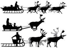 Reindeer sleighs Stock Photography