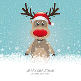 Reindeer snow background Royalty Free Stock Image