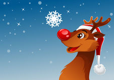 Reindeer and snowflake Royalty Free Stock Photo