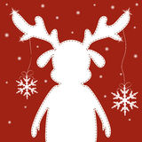 Reindeer with snowflake Stock Image