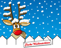 Reindeer with snowflakes Royalty Free Stock Photos