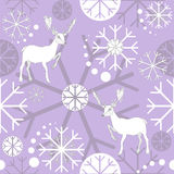 Reindeer and snowflakes (vector) Royalty Free Stock Photography