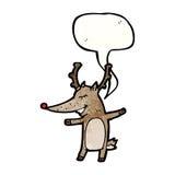 Reindeer with speech bubble cartoon Stock Images
