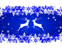 Reindeer with stars, snowflakes and glitter Stock Photo
