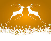 Reindeer with stars, snowflakes and glitter Royalty Free Stock Images