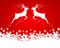 Reindeer with stars, snowflakes Royalty Free Stock Photo