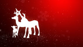 Reindeer station in the snow_047 royalty free illustration