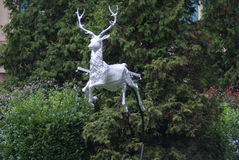 Reindeer Statue. A statue of a reindeer Royalty Free Stock Photo