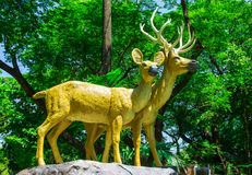 Reindeer statue Royalty Free Stock Photo