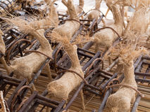 Reindeer straw Royalty Free Stock Photography