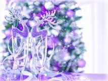 Reindeer table decoration Stock Photos