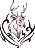 Reindeer tattoo Royalty Free Stock Photography