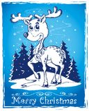 Reindeer theme drawing 2 Stock Photography