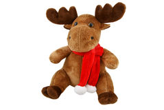 Reindeer toy. Isolated on white background Stock Photo