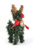Reindeer tree christmas ornament. And decoration royalty free stock photos