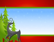 Reindeer Trees Background Stock Photo