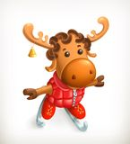 Reindeer, vector icon. Isolated on white background Royalty Free Stock Images