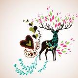 Reindeer wallpaper Royalty Free Stock Image