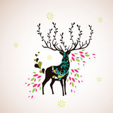 Reindeer wallpaper Stock Photos
